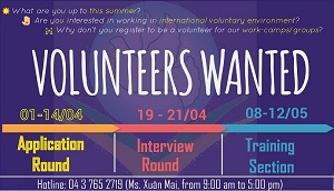 Volunteer Recruitment Announcement 2017